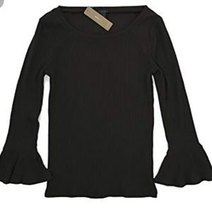 J. Crew women's ribbed bell sleeve top size Sm